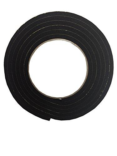 【K-mall】防音 遮音 隙間 テープ パッキン 発砲ゴム【粘着つき】1巻 厚さ5mm 幅1.5cm 長さ2メートル (1)
