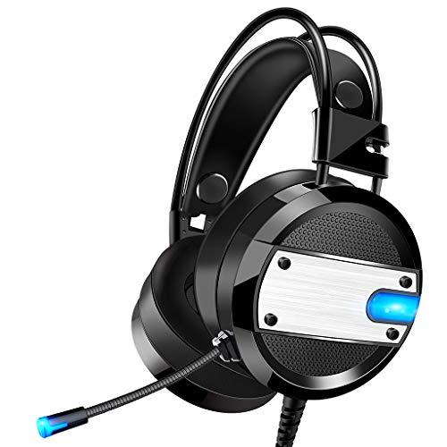 showsing-elektronische Stereo Gaming Headset met Mic USB 3.5mm Surround Hoofdband voor Xbox, PC, Nintendo 3DS, Laptop, PSP, Tablet, iPad, Computer, Mobiele Telefoon