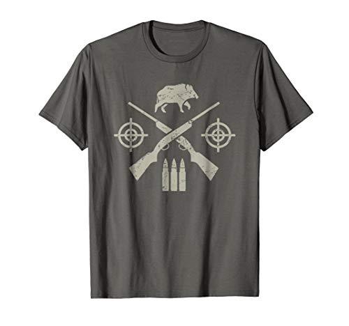 Wild Hog Hunter T-Shirt / Gift For Pig Hunters | Distressed
