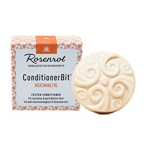 Rosenrot Naturkosmetik - ConditionerBit® - fester Conditioner Reichhaltig - Für normales & gesträhntes Haar - Verleiht Geschmeidigkeit & Kämmbarkeit