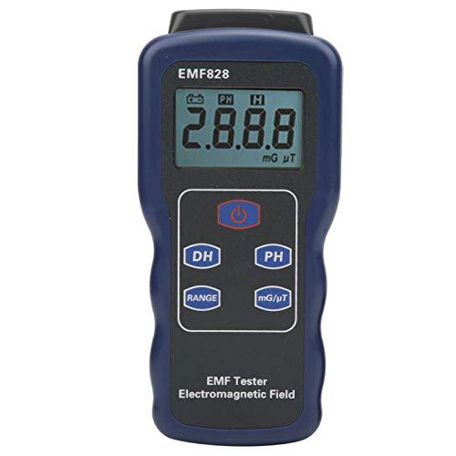 SYXZ EMF-Tester, Strahlungsprüfgerät für elektromagnetische Felder Tragbares digitales LCD-Prüfgerät für Computer-TV 5G 4G WiFi,Schwarz