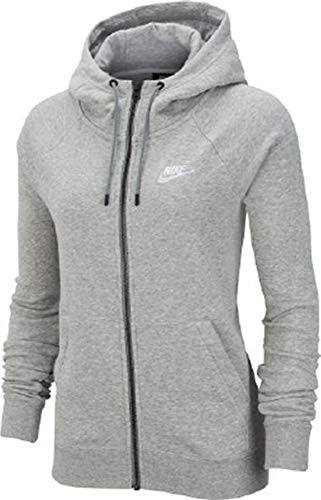 Nike Damen Hoodie Dry  Full Zip, Dk Grey Heather/Cool Grey/Rush, M, 857563