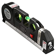 "📏 3-PRONGED APPROACH - combines a fine-tuned tape measure, a triple-positioned leveling bubble and a NEW laser level to provide maximum results.(Note: Laser Ranging Error,that is given as ""+/-2mm at 10m and 25m"";If the laser is the Vertical Level or ..."