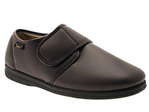 LD Outlet, Pantofole Uomo Multicolore Nero/Marrone Marron Size: 44