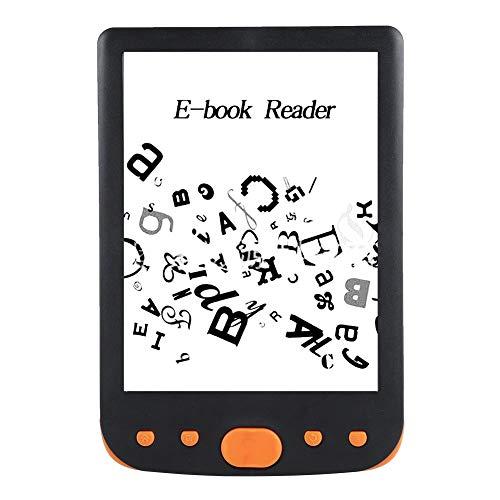 Bewinner E-Book Reader para niños Lector de Pantalla HD de 6 Pulgadas 800 * 600, Lector de Papel electrónico para Proteger los Ojos Admite Tarjeta de 32 GB TF con batería Grande de 2500 mAh(Oranja)