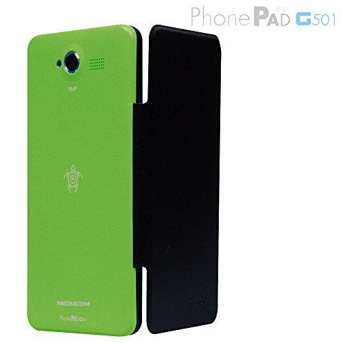 MEDIACOM Custodia Flip per PhonePad Duo G501 Verde