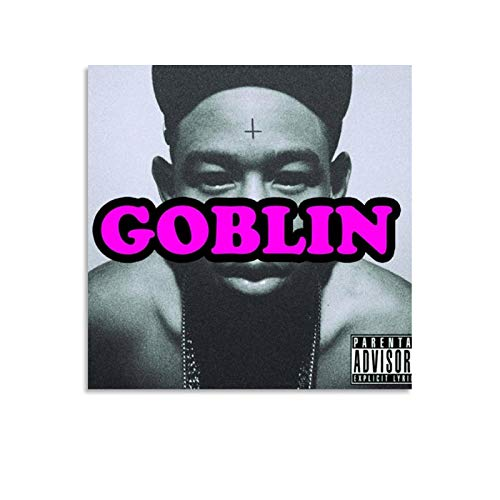 Lilizi Singer Tyler The Creator Goblin (Deluxe) Album Cover Canvas Art Poster and Wall Art Picture Print Modern Family Bedroom Decor Posters 12x12inch(30x30cm)