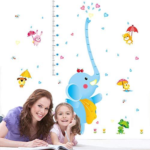 Wandaufkleber Design Cartoon Elefant Brunnen Kinder Höhe Kinderzimmer Kindergarten Wandtattoo Art Home Decoration
