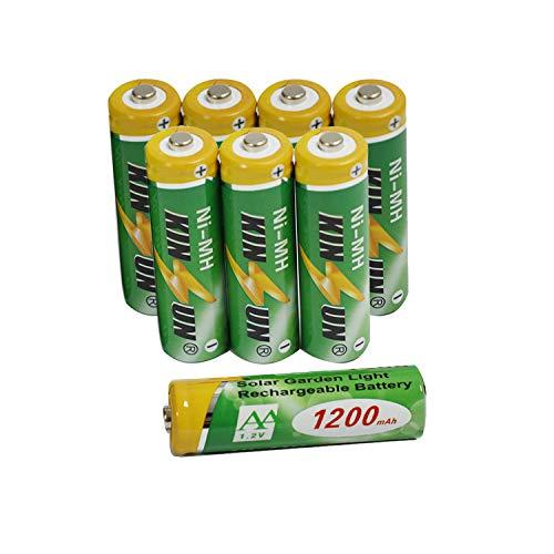 KINSUN Piles Rechargeables (8 pièces) NiMH AA...