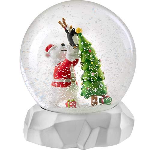 WeRChristmas Schneekugel Eisbär Weihnachtsdekoration, Mehrfarbig, 14 cm