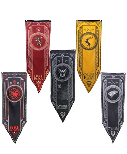 Game of Thrones GOT House Sigil Tournament Banner Flag 61x17' (Set of 5)