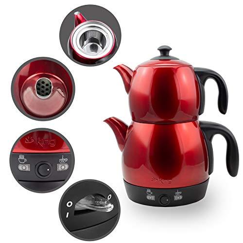 Elektrische Moderne Teemaschine Wasserkocher mit autom. Abschaltung & Warmhaltefunktion und...