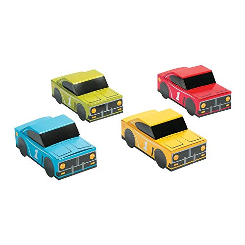 RACE CAR BIRTHDAY TREAT BOXES - Party Supplies - 12 Pieces