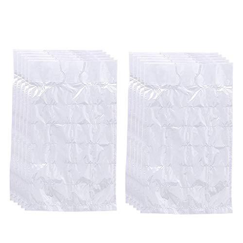 Adaskala 10 Uds Bolsas de Cubitos de Hielo Desechables autosellantes Molde de Hielo Transparente Nevera congelador máquina de Hielo