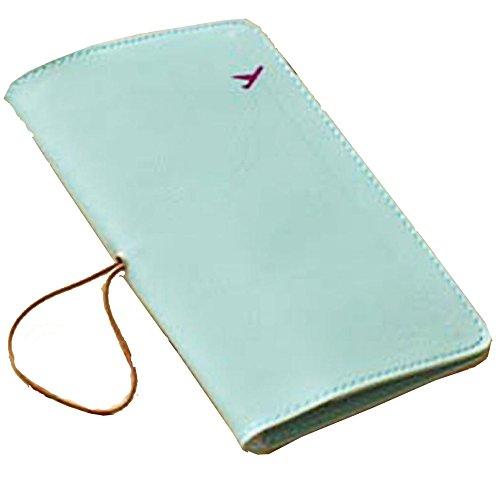 Pasaporte de Cuero Titular, Pasaporte Protector Cubierta Billetera (Verde Claro)