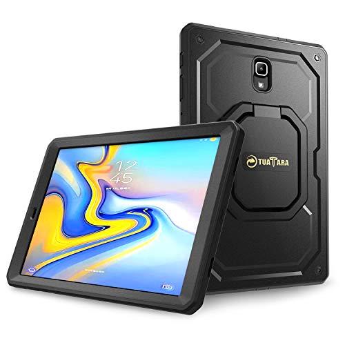 Fintie Stoßfeste Hülle für Samsung Galaxy Tab A 10.5 SM-T590/T595 Tablet-PC - [Tuatara Magic Ring] [360-Rotating] Multifunktionale Stand mit Griff Schutzhülle mit eingebauter Schutzfolie, Schwarz