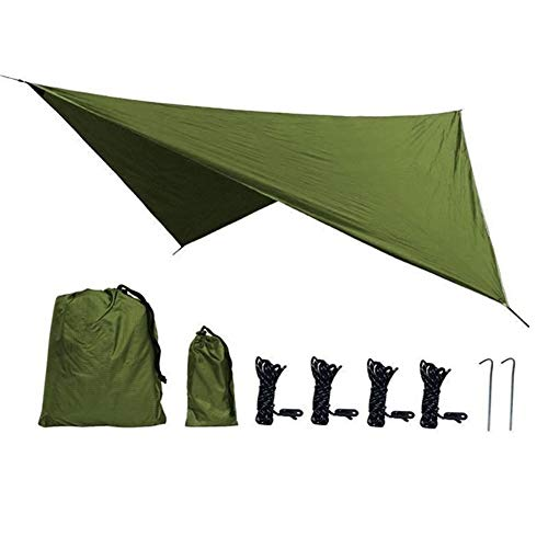 HNXCBH 360x290cm Wasserdicht Tarp Zelt Schatten Outdoor Camping Hängematte Regen Fly UV Garten Vorzeltdach Sonnenschutz Ultra Sonnensegel Rechteckig (Color : LT360x290cm)