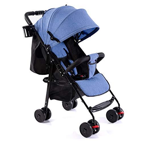 Metermall NIEUW Baby opvouwbare kinderwagen Volledige luifel Zonnescherm Linnen neergelegd Draagbare babyparapluwagen