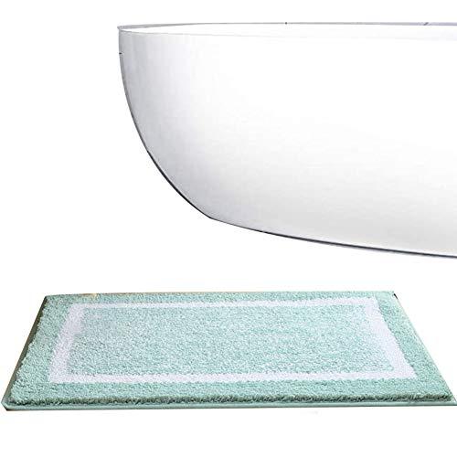 TBATM Baumwollbadematte, Schnelltrocknende rutschfeste Badematte Maschinenwaschbar, Wasserdichtender Badteppich Für Die Dusche Langlebige Fußmatten,C,40x60cm