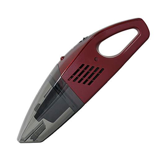 [山善] ハンディクリーナー 掃除機 Wet&Dry (ウェット/ドライ) コードレス (ブラシノズル/隙間ノズル付) 紙パック不要 充電式 軽量 レッド ZHG-NW48(R) [メーカー保証1年] 幅40×奥行10×高さ11cm