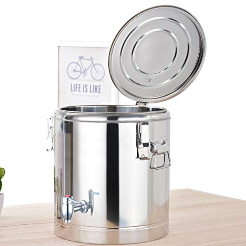Racks 304 Edelstahl-Isolierfass Doppelwandiger Getränkespender, heiß- und kaltdoppelisolierter Milch-Teeeimer, Behälter für Heißwasser-Kaffeesaft, Home-Party-Gebrauch, für Getränkegeschäft