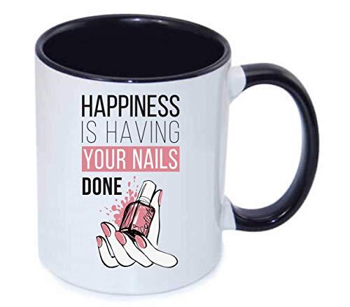 Druckerlebnis24 Tasse - Nagellack Fingernagel Maniküre Comic - Kaffee-Tasse 330ml - Unisize aus Keramik - Tee
