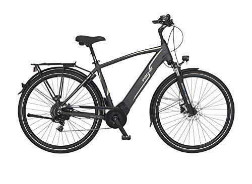 FISCHER Herren - Trekking E-Bike VIATOR 5.0i, Elektrofahrrad, grau matt, 28 Zoll, RH 50, Brose Drive C Mittelmotor 50 Nm, 36 V Akku