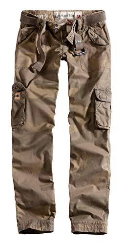 Surplus Raw Vintage Ladies Premium Slimmy Cargo Hose, Woodland, Größe 36