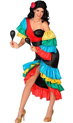Atosa-26862 Disfraz Rumbera, multicolor, M-L (26862)