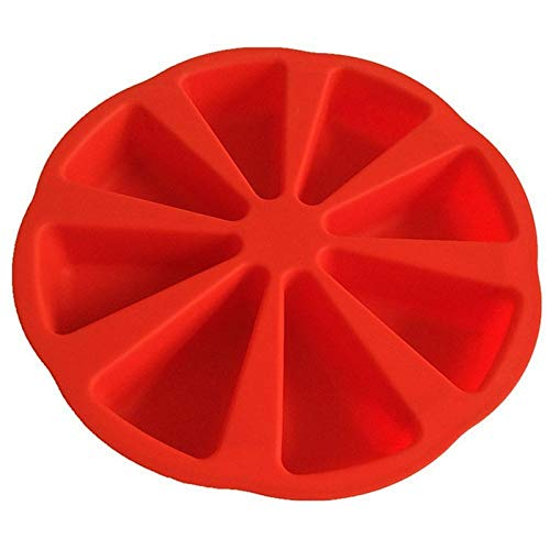 Silicone Mold Round 8-Point Cake Mold 8-Hole Orange Pizza Pan