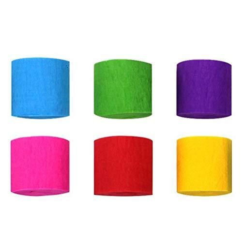 LUOEM Crepe Paper Streamer Party Craft Decoraciones de papel para cumpleaños Boda Festivales de Navidad Color al azar 12 Rollos/paquete