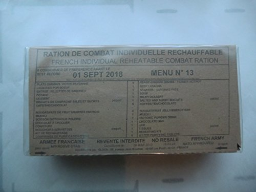 French Army ration MRE Rcir EPA Different Menu 1