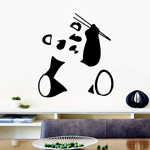 DIY Kunst Panda Cartoon Pvc Wandbild Poster Wandaufkleber Schlafzimmer Kinderzimmer Dekoration Grün L 42cm X 47cm
