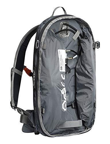 ABS Unisexe - Sac à Dos pour Adulte Base Unit, Twinbags pour Plus de sécurité, utilisable avec S.Light + P.Ride Compact Zipons et Carbone ou Acier unité de déclenchement Rock Grey One Size