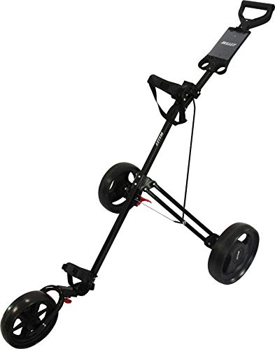 Bullet Golf Black Cruiser Deluxe Folding Trolley 3 Wheel Roller Cart...