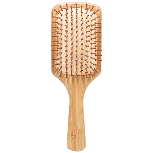 SOLUSTRE Brosse à Cheveux en Bois Brosse à Palette Masseur Peigne à Cheveux Brosse Démêlante Peigne Antistatique pour Cheveux Longs Bouclés Humides