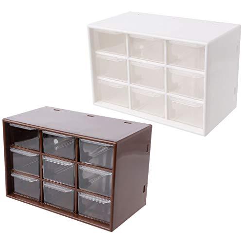 mDesign Caja organizadora para art/ículos de beb/és chupetes y otros accesorios para beb/és Organizador de pl/ástico de color crudo con 3 cajones Cajonera de pl/ástico para los biberones