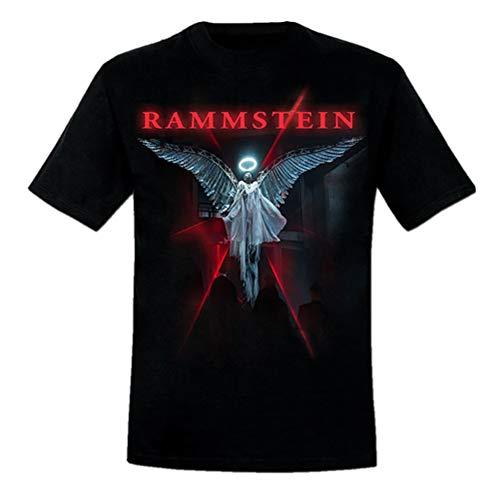 Rammstein Herren T-Shirt Du Ich Wir Ihr Offizielles Band Merchandise Fan Shirt schwarz mit mehrfarbigem Front Print (L)