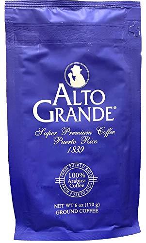Alto Grande Super Premium Ground Coffee 100 Percent Arabica Medium-Dark Roast, Bagged, 6 Ounce (Pack of 1)