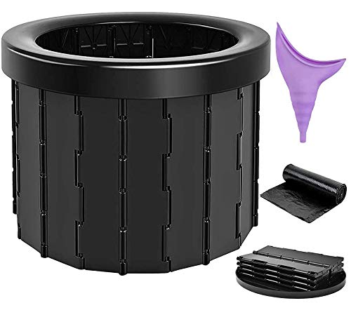 Moremili Campingtoilette, Tragbare Toilette Outdoor Camping Toiletten Mobile Faltbare Toilettenstuhl für Camping, Wandern, Ausflüge, Stau