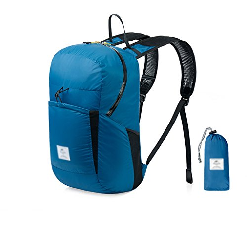 LINGZHIGAN Plein air sac à dos pliant sac à dos ultra léger imperméable sac à dos hommes et femmes sac de peau en plein air sac d'alpinisme sac à dos poche imperméable à l'eau 2000+ Ultralight 120g fa