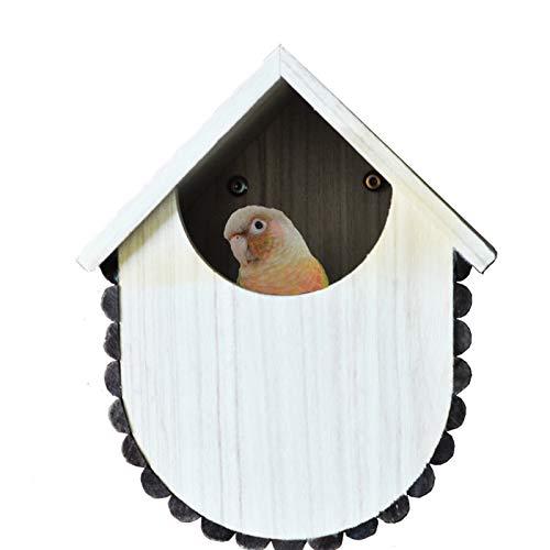 hsy Hängende dauerhafte Vögel Nistkasten Nymphensittiche Fütterungsbox Vogelhaus Wildvogel-Vogel BathFeeder Keine WERKZEUGMONTAGE Fenster Laternenhaken für Hangi Blockhaus Vogel Baumwolle Eisvogel