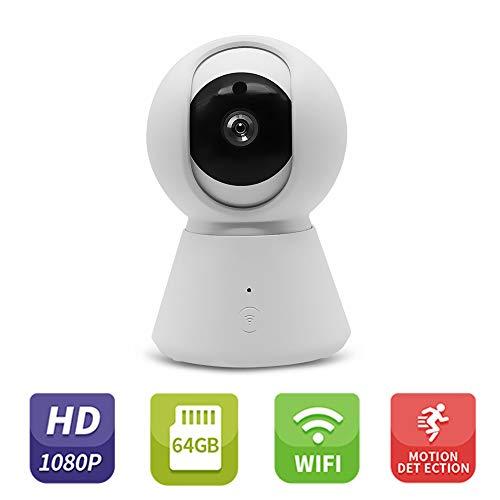 Owsoo IP-camera, 1080p HD, draadloze bewakingsmonitor met nachtzicht-bewegingsdetectie, tweewegs-audio-camera, voor kinderen en huisdieren