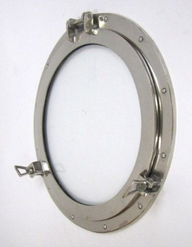 HANDMADE BY ARTISAN AL 486110C 20inch Aluminum Porthole Window Chrome Finish-Nautical Decor