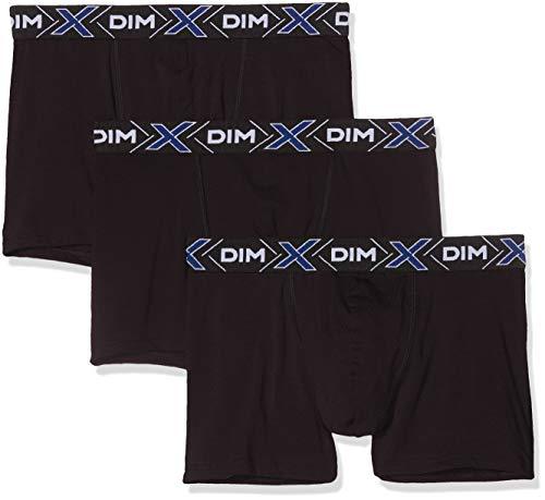 Dim X-TEMP BOXER X3 Boxer de bain Homme Noir (Noir/ Noir/ Noir 0hz) Medium (Taille fabricant:3) 3lot de3