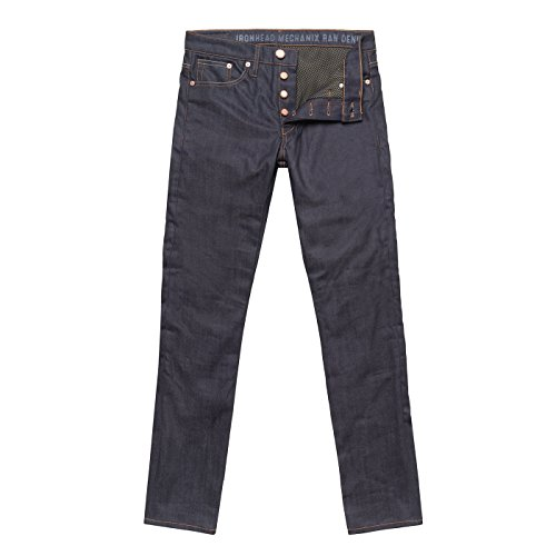 John Doe IRONHEAD MECHANIX Herren Motorrad Jeans Slim-Cut mit DuPont Kevlar® Faser - blau Größe 31/34