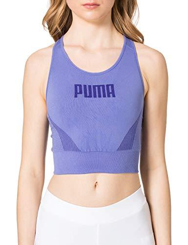 PUMHB|#Puma Evostripe Evoknit Bra Top, Reggiseno Sportivo Donna, Hazy Blue, L