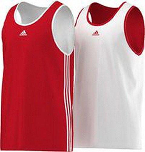 adidas Team - Camiseta de Tirantes para Hombre, diseño Reversible Multicolor Rojo/Blanco...