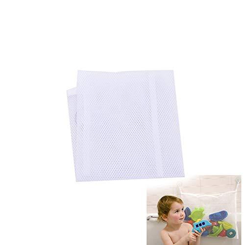Naisicatar 1pc Mesh-Bad-Spielzeug-Lagerung mit starken Saugnäpfen Baby-Bad-Spielzeug-Speicher-Kleinkindern Großer Spielzeug-Organisator-Beutel für Jungs und Mädchen und Dusche Caddy Nizza Geschenk