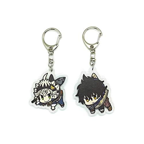 EBTY-Dreams Inc. - Set of 2 Black Clover Anime Acrylic Keychain Yuno, Asta